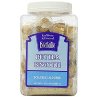 Dilettante Toasted Almond Individually Wrapped Biscotti, 18-Count Packages