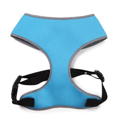 Casual Canine Nylon Reflective Neoprene Dog Harness, Small, Bluebird