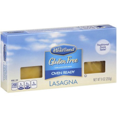 American Italian Pasta Co. Heartland Gluten Free Oven Ready Lasagna Pasta, 9 oz