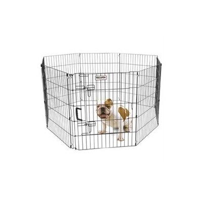 Precision Pet Ultimate Dog Exercise Pen 30in Black