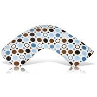 Luna Lullaby Bosom Baby Nursing Pillow, Big Polka Blue (Discontinued by Manufacturer)