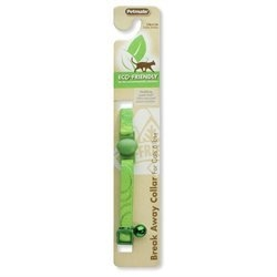 Petmate 320108 Eco Friendly Breakaway Cat Collar, Green