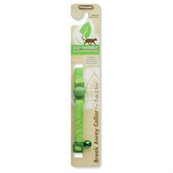 Petmate 320108 Eco Friendly Breakaway Cat Collar, Green