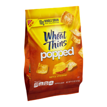 Wheat Thin Popped Chips Spicy Cheddar