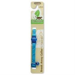 Petmate 320109 Eco Friendly Breakaway Cat Collar, Blue