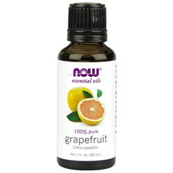 NOW Foods - Grapefruit Oil - Citrus Paradisi 100 Pure and Natural - 1 oz.