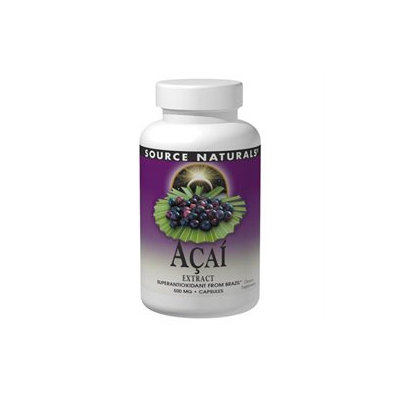 Acai Extract 500 mg 60 Vcaps by Source Naturals