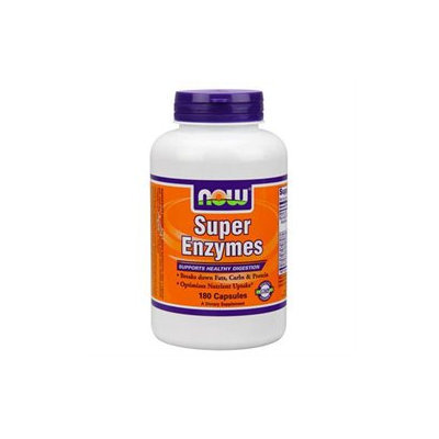 NOW Foods Super Enzymes, Capsules, 180 ea