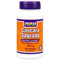 NOW Foods Cascara Sagrada, 450mg, Capsules, 100 ea