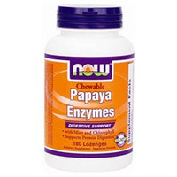 NOW Foods - Papaya Enzyme Chewable - 180 Lozenges