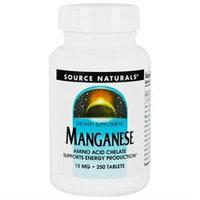 Source Naturals Manganese 15mg, Tablets, 250 ea
