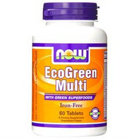 NOW Foods - Eco-Green Multi with Green Superfoods Iron-Free - 60 Tablets
