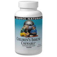 Source Naturals - Children's Immune Chewable Supports Wellness - 30 Wafers