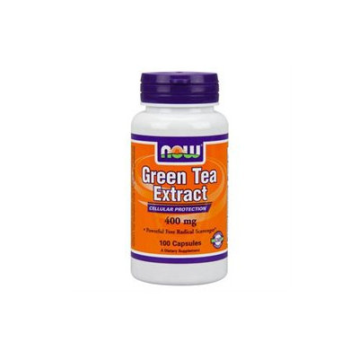 NOW Foods Green Tea Extract, 400mg, Capsules, 100 ea