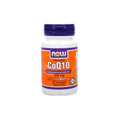 CoQ10 200mg with Vitamin E and Lecithin by Now Foods - 30 Lozenges
