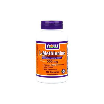 NOW Foods - L-Methionine 500 mg B-6 10 mg 500 mg. - 100 Capsules
