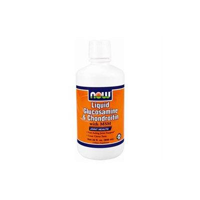 NOW Foods - Liquid Glucosamine & Chondroitin with MSM Citrus - 32 oz.