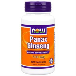 NOW Foods Panax Ginseng, 520mg, Capsules, 100 ea