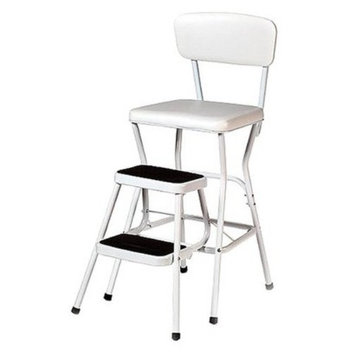 Cosco Step Stool: Cosco Chair with Step Stool - White