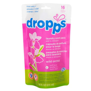 Dropps Laundry Scent Pacs, 16ct, Wild Orchid, 7.8 fl oz