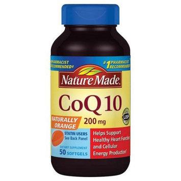 Pharmavite Llc Nature Made Naturally Orange CoQ10 Dietary Supplement Softgels, 200mg, 50 count