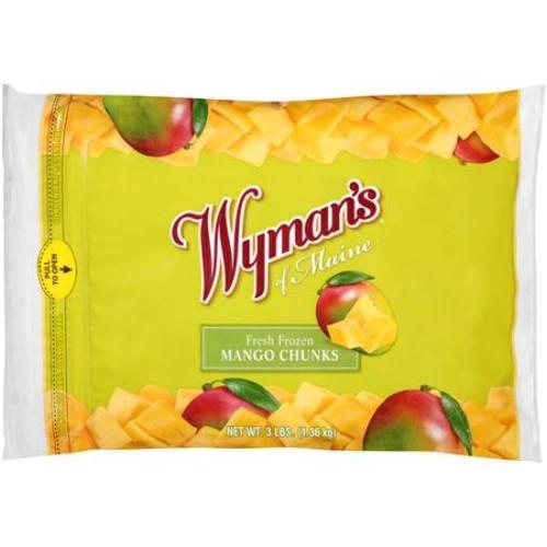 Wyman's of Maine Fresh Frozen Mango Chunks, 3 lbs