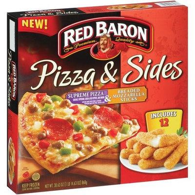 Red Baron Pizza & Sides Supreme Pizza & Breaded Mozzarella Sticks, 30.63 oz