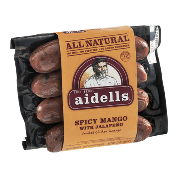 Chef Bruce Aidells All Natural Smoked Chicken Sausage Spicy Mango with Jalapeno