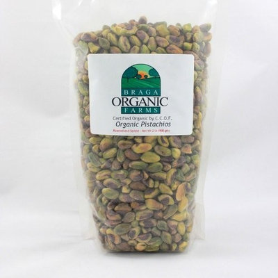 Braga Organic Farms Kernels Pistachios, Roasted and Salted, 2 Pound