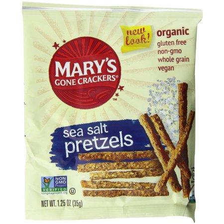 Generic Mary's Gone Crackers Sea Salt Pretzels, 1.25 oz, (Pack of 25)