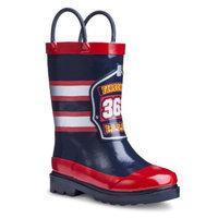 Washington Shoe Company Toddler Boy's Fireman Rain Boot - Navy L (11-12)