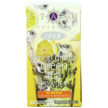 Stash Tea Company Stash Tea Lemon Ginger Green Iced Tea Powder, 12 Count Packets (Pack of 6)