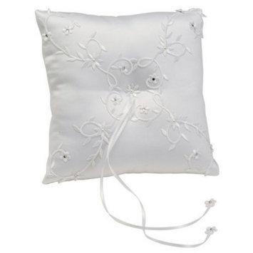 Cathy's Concepts Sparkling Entwined Pillow - White