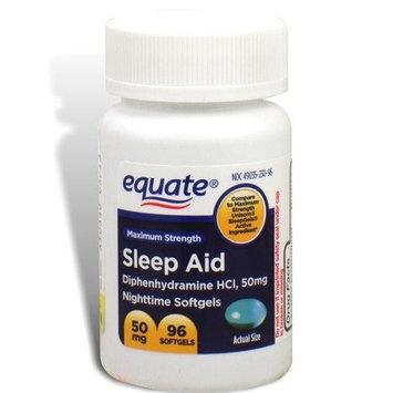 Equate - Sleep Aid 50 mg, Maximum Strength, 96 Softgels (Compare to Unisom)