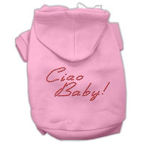Mirage Pet Products 5420 XSPK Ciao Baby Hoodies Pink XS 8