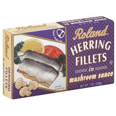 Roland Herring Fillets in Mushroom Sauce, 7 oz, (Pack of 12)