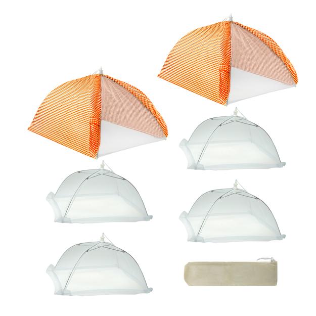 Mr Bar-b-q Inc Mr. Bar-B-Q Cabana Style 7-Piece Orange Tent Kit