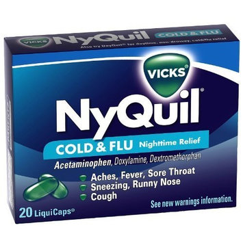 NyQuil Cold and Flu 20 liquicaps