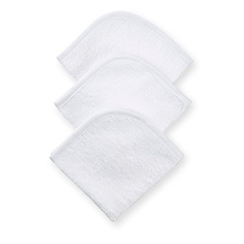American Baby Company 3-Pack 100% Cotton Terry Washcloth Set, White (Discontinued by Manufacturer)