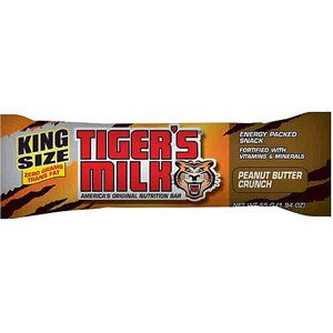 Tigers Milk Peanut Butter Crunch King Size Bar - Box of 12