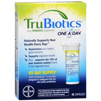 One A Day TruBiotics Daily Probiotic Supplement Capsules - 30 Count