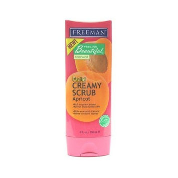 Freeman Beauty Freeman Facial Scrub Apricot & Wild Cherry 6 oz. (3-Pack) with Free Nail File