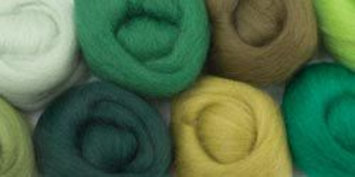 Wistyria Editions 60172 Wool Roving 12 in. .25 Ounce 8-Pkg-Jungle