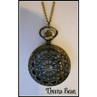 Treena Bean Retro Brass Pocket Watch Necklace