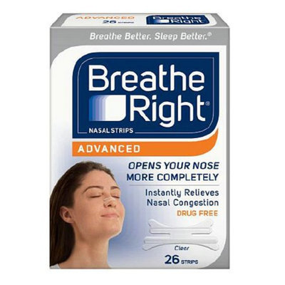 Breathe Right Advanced Clear Nasal Strips