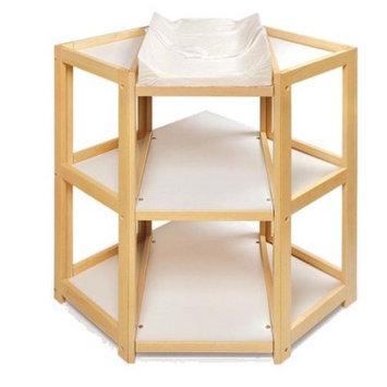 Badger Basket Natural Diaper Corner Baby Changing Table