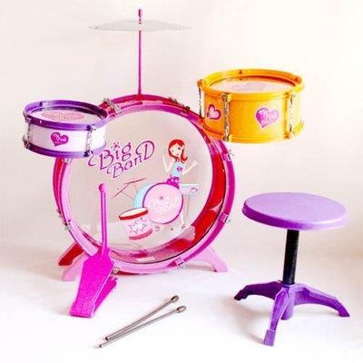 Wonders Shops USA Wonders Shop USA Kids Instrument New Drum Play Set 8 Pcs for Girls - PINK