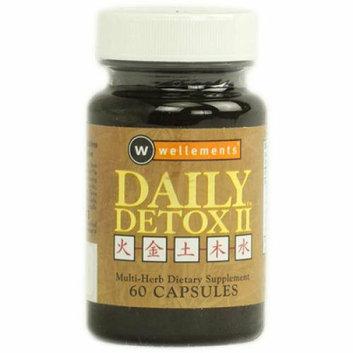 Wellements Daily Detox II Multi Herb 60 Capsules