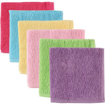 Baby Vision Luvable Friends 6 Pack Washcloths - Pink