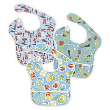 Bumkins Superbib 3ck Baby Bib Set - Blue